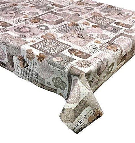 (250cm x 137cm) Vinyl-Tischdecke, Dieser ist zahlreichen in pink & grau, um bis zu einer 8-Sitzer Größe Rechteck Tisch, abwischbar, Textil (248) ()