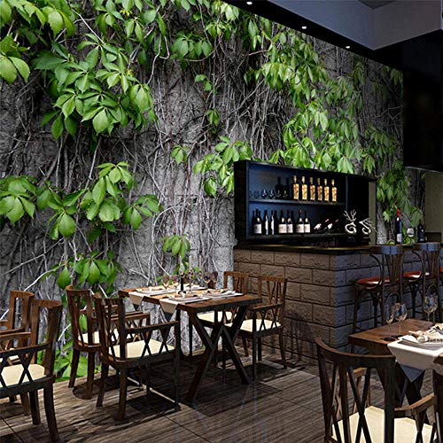 Restaurant Café Club KTV Bar Boston Ivy Natürliche moderne Pflanzenfaser-Rolle 350x256cm ()