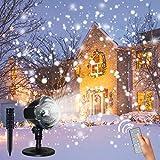 LED Projektionslampe, CREASHINE® Weihnachtsprojektor Lichter Projektions Lampe mit Fernbedienung Schneefall-Lichteffekt Stimmungsbeleuchtung Beleuchtung für Weihnachten Party Geburstag Hochzeit