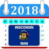 Wisconsin Calendar 2018 Holiday