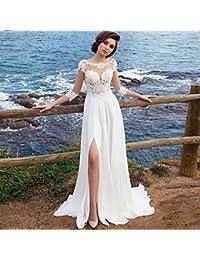 68d345da79 MOM Vestido de Noche de la Falda del Vestido de la Falda Larga Vestido de  Cola