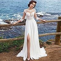 YC Vestido de Noche de la Falda Del Vestido de la Falda Larga Vestido de Cola Sex Delgada Hermosa Bordado de Encaje Vestido de Noche,UN,S