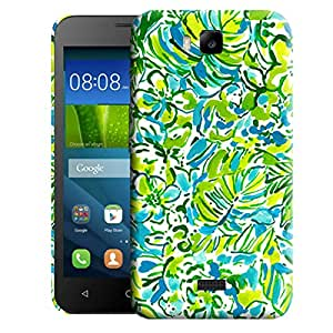 Theskinmantra Green Floral Print back cover for Huawei Honor Bee