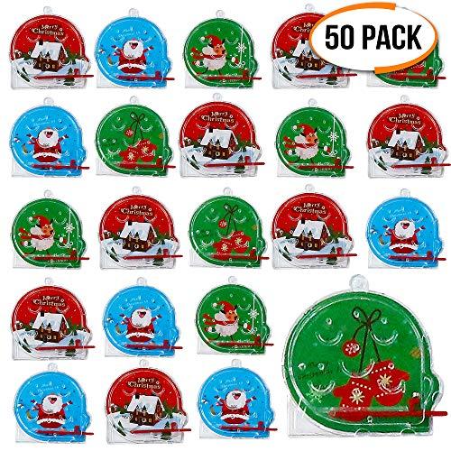 50 Pinball a Tema Natalizi - 5 Modelli Diversi - Perfetti Come regalini per Calze, pentolacce e Sacchetti da Bambini Bomboniere - Giochi Natale Festa