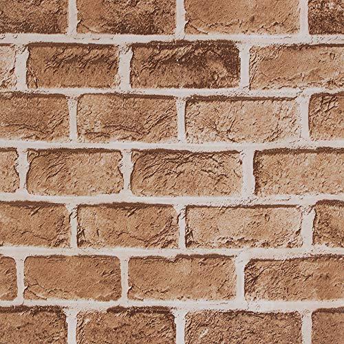 LZYMLG Nordic 3d Stereo Autoadesivo Effetto Muro Di Mattoni Carta Da Parati Dormitorio Camera Da Letto Soggiorno Sfondo Adesivi Murali In Pvc Adesivi Decorazione Negozio marro