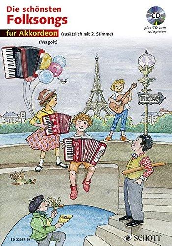 Die schönsten Folksongs: 1-2 Akkordeons. Ausgabe mit CD.
