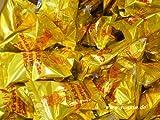 100 Glückskekse je 6g, einzeln in Goldfolie verpackt  Marke DIAMOND YOAXIA + ein kleines Glückspüppchen - Holzpüppchen