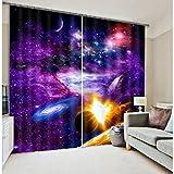 Wapel Luxus Super Galaxie Universum Raum Blackout 3D Fenster Vorhänge Für Betten Wohnzimmer Hotel Vorhänge Cortinas Para Sala 240X260CM