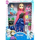 Snow And Ice Colors Lovely Fairy Doll Set (Multi Color)