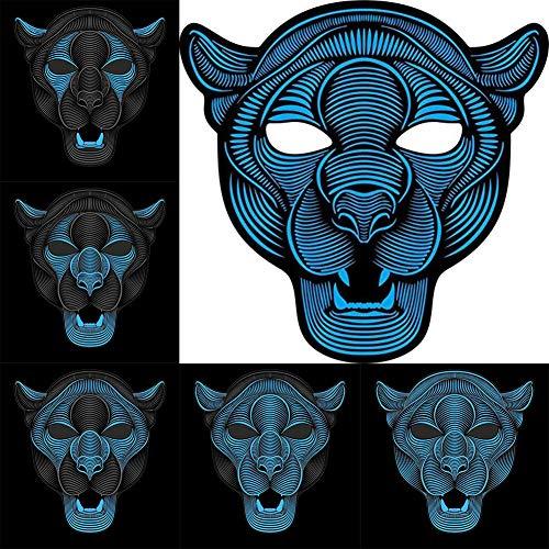(F.O.T LED Musik Maske mit Sound Reactive,Halloween EL Licht Maske,Masquerade Party Cosplay oder Andere Festivals)