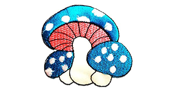 Mushroom Magic-/à coudre-Badge//Iron On Patch 4,6 x 6 cm