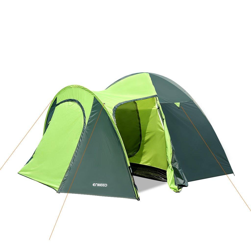 0e489bc8056769 Enkeeo Tenda Campeggio 4 Persone 4 Stagioni PU Rivestendo, (140 210cm)  x300cm x