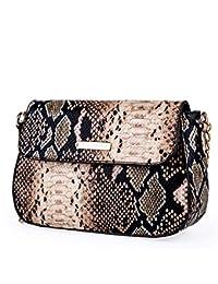 26043e2a0 LFNYZX Small Crossbody Bag For Women Fashion Snake PU Leather Shoulder Bag  Female Chain Messenger Bag