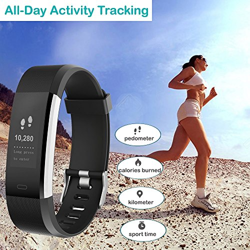 61zh2R1ZdEL. SS500  - YAMAY Fitness Trackers,Fitness watch with Heart Rate Monitor Waterproof IP67 Smart Watches Pedometer Watch Activity Trackers Watch Step Counter for Kids Women Men Call SMS Push for iOS Android Phone