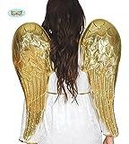 Guirca Engel Goldene Flügel für Damen Weihnachten Karneval Fasching Party Himmel Engelsflügel 80 cm