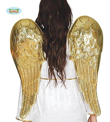 Kostüm Engel Flügel Weiß Gold Und - Guirca Engel goldene Flügel für Damen Weihnachten Karneval Fasching Party Himmel Engelsflügel 80 cm