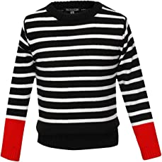 Stop Girls Round Neck Stripe Sweater