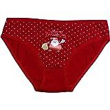 2 Slip Bimba Bambina Mutande Elasticizzato Cotone Natale Capodanno Rosso 2-16 Anni 4863