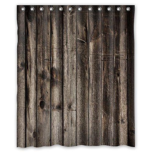 CHATAE Wasserdicht Rustikal Old Barn Holz Art Vorhang für die Dusche 152,4x 182,9cm-6
