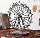 Guixinweiheng Eisen Riesenrad Modell Drehbare Dekoration Modell Dekoration Handwerk,Brown