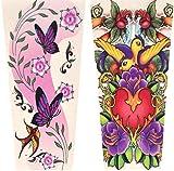 Girls' Tattoo Sleeves - Set of 2 -Random Designs
