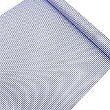 LoveFaye Blue White Stripes Shelf Liner Drawer Units Decor Sticker Self-Adhesive Contact Paper
