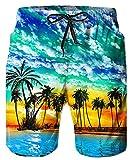 TUONROAD Badehose Herren,Beachshorts Badehose Sommer Strand,Hawaii Boardshorts mit Kordelzug
