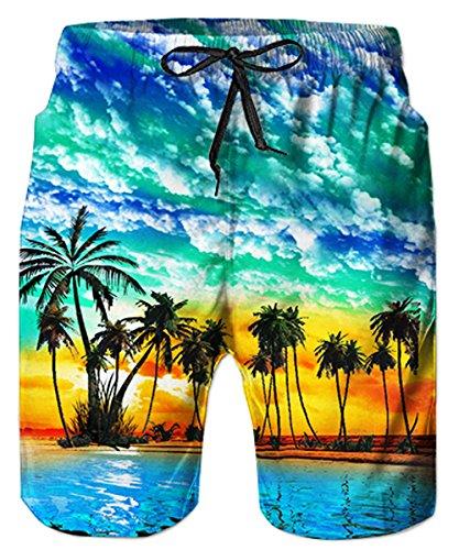 TUONROAD Costume Pantaloncino Costume da Bagno Casual HawaianoShort da Bagno S XL