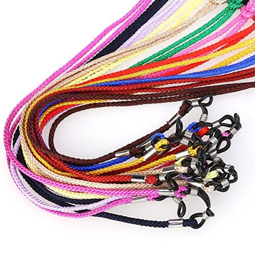 NUOLUX Brillen Cord-Ansatz-Schnur Brillengestell -Halter 12pcs (Zufällige Farbe) Test