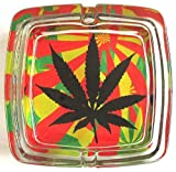 Marihuana Weed Deluxe Glas Aschenbecher Modell 6