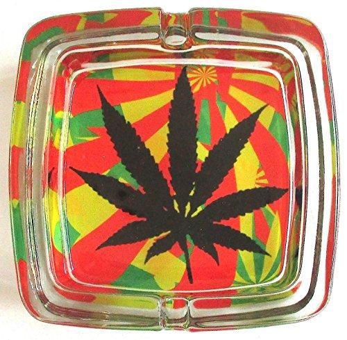 Marihuana Weed Deluxe–Cenicero de cristal modelo 6