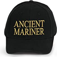 4sold 100% cotone Ancient Mariner, Captain Cabin Boy Crew First Mate Yachting baseball iscrizione Lettering nero oro