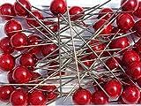 Perlen-Nadeln Deko-Nadeln Perle ROT 10mm 50 Stück HOCHZEIT