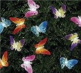 12 Solar LED Lichterkette Schmetterlinge)