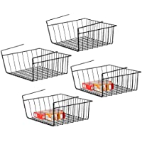 Haitral - Set di 4 cestini da appendere sotto scaffale, per dispensa