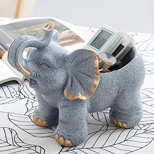 Dekorative Schuh-speicher (GBYJ Dekoration Personalisierte Schlüssel Aufbewahrungsbox Veranda kreative Heimat Eingangstür Schuh Desktop Elefant Speicher Ornamente, viel Glück grau Speicher 353)