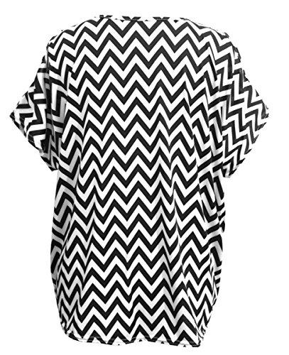 Emma & Giovanni - T-shirt Epaule Dénudée Manche Courte - Femme Noir