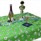 JUNOPAX 50m x 0,20m Papier Tischband Fußball | nass- und wischfest - 3