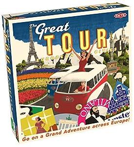 Tactic Great Tour Viajes/Aventuras Niños - Juego de Tablero (Viajes/Aventuras, Niños, 45 min, Niño/niña, 8 año(s), Alemán, Holandés, Inglés)