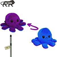 EITHEO Emotional sad and Happy Octopus Mini Plush (Blue- Purple)