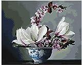 Diamond Vollbedeckung mit Holzrahmen Painting Set Bild 40 x 50 Diamant Malerei Stickerei Handarbeit Basteln Mosaik Steine Blumen Korb Haus am Bach (GF1409)