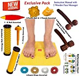#2: Super India Store Acupressure Mat With Magnets Pyramids + Health Products + 2 Wooden Face Massagers