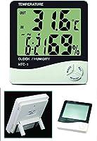 Buffer J52YT1927 Masaüstü Dijital Termometre Nem Ölçer Saat