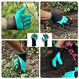 eiito 2x Garten Handschuhe, Größe M/L 17,8–21,6cm für eiito 2x Garten Handschuhe, Größe M/L 17,8–21,6cm