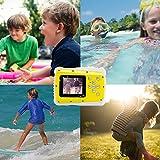 GDC5261 Waterproof Digital Camera with 4x Digital Zoom / 8MP / 2 Inch TFT LCD Screen Waterproof Camera for Kids (Yellow)
