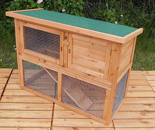 Hasenstall LOPPEL 2 Etagen Kaninchenstall Meerschweinchenstall Käfig Holz Stall