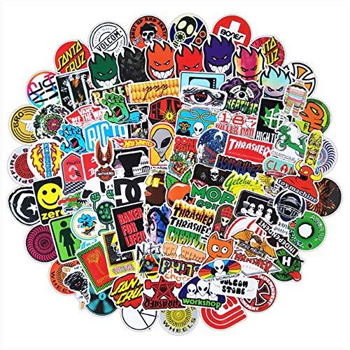 100 Pegatinas De Graffiti De Guitarra De Skate Callejero