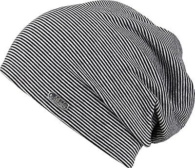 leichte Mütze dezent gestreift und hohem Baumwollanteil und Elasthan