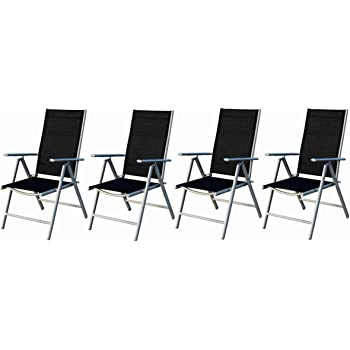 Alustuhl 2er Set Gartenmöbel Sitzgruppe Hochlehner Stühle Klappstuhl Stuhl