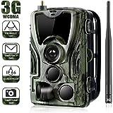 SUNTEKCAM 3G Wildlife Trail Caméra GSM SMS MMS avec 940nm Vision Nocturne Infrarouge activé par Le Mouvement 16MP 1080P caméra Chasse et de Surveillance avec télécommande Kamera de Surveillance